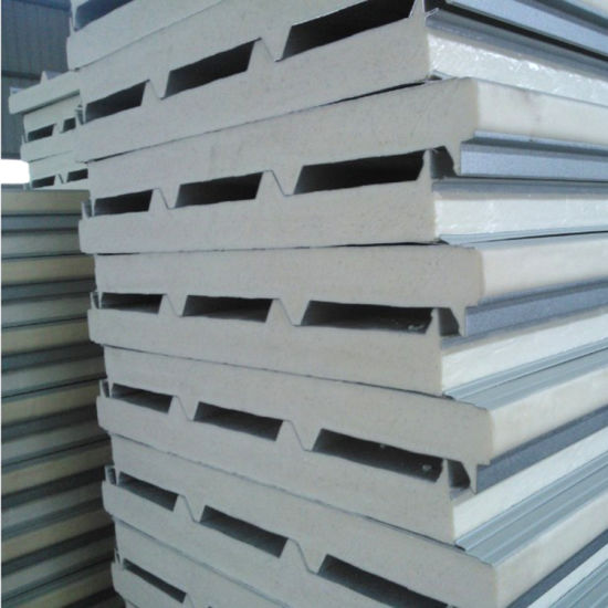Energy Saving/Environmental/Soundproof/Waterproof EPS/PU/Rockwool Sandwich Concrete Panel for Roofing
