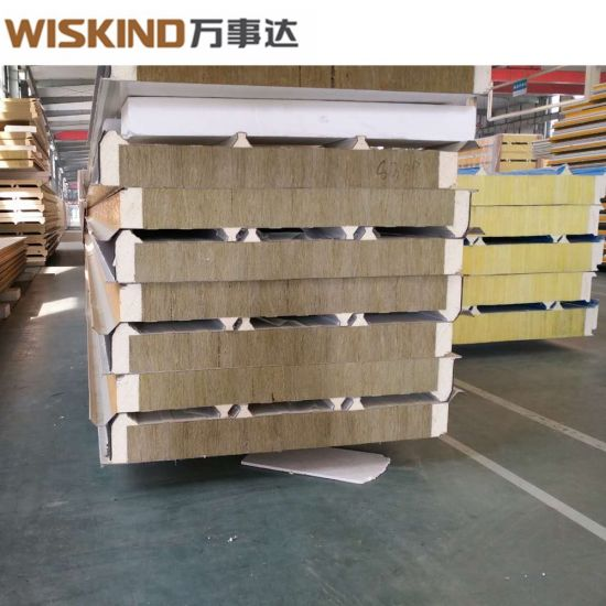 Factory Price Rock Wool Sandwich Panel with PU Edge Sealed