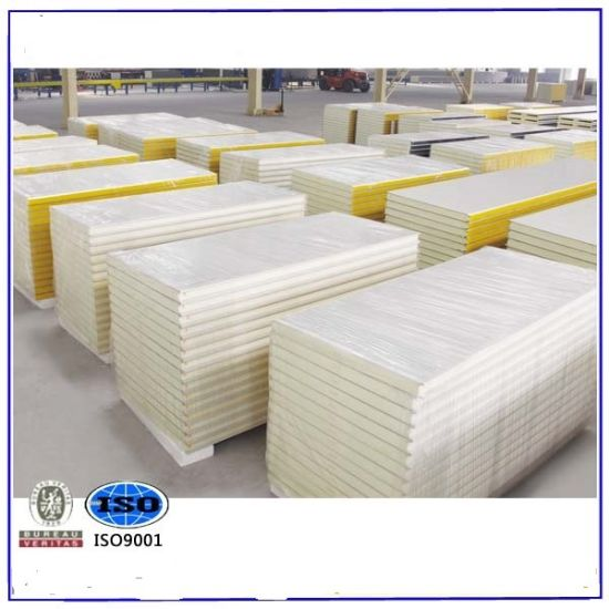 Polyurethane Sandwich Panel with Sound-Proof for H Beam Factory Office Roof