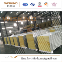50mm/75mm/100mm Rock Wool Sandwich Panel Used Steel Building