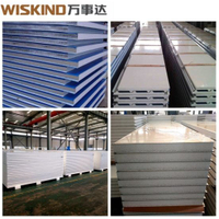 EPS 1000/1200 Sandwich Panel with Better Quality for Steel Structure Factory H Beam Office