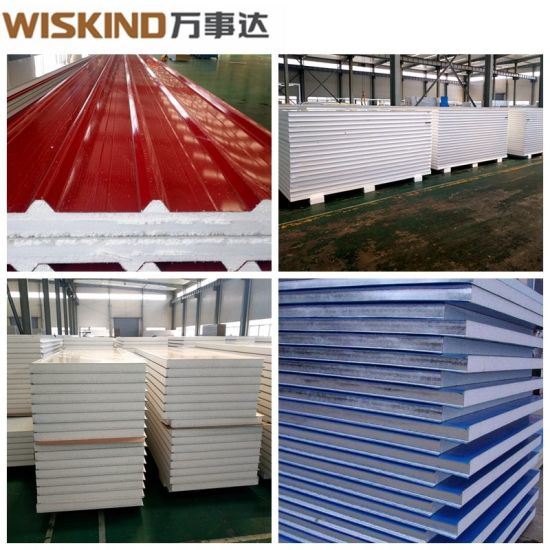 Good Quality EPS / Glass Wool / Rock Wool Sandwich Panel with ISO Standard