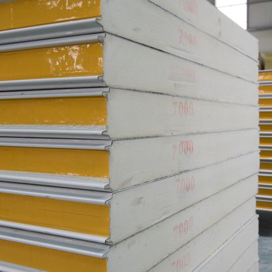 Polyurethane Sandwich Panel with Insulation Sound-Proof for H Beam Factory Office Roof