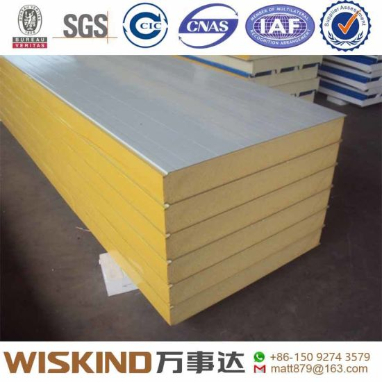 Thermal Insulated 50mm PU/EPS/PIR Sandwich Panel for Wall and Roof