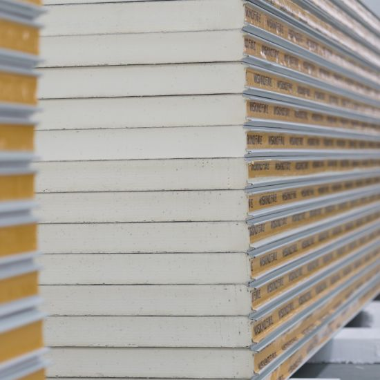 PU Polyurethane Sandwich Panel with Insulation Sound-Proof for H Beam Factory Office Roof