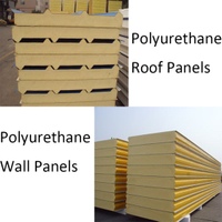 Polyurethane Sandwich Panel with Insulation Sound-Proof for H Beam Factory Roof