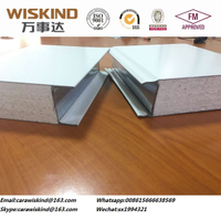 EPS Polyurethane Rock Wool Glass Wool Metal Sandwich Panel for Container House Cladding Wall/Roof or Cleanroom&Cold Storage Panels with FM/ISO