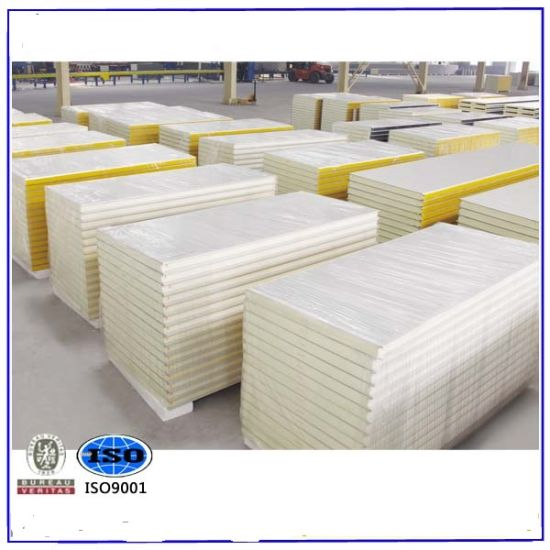 Fast Install Recycled Materials EPS/PU/PIR/Rock Wool Sanwich Panel for Steel Structure Building
