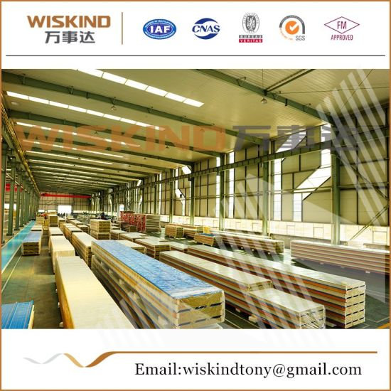 50mm/75mm/100mm Rock Wool Sandwich Panel for Steel Building